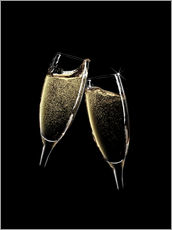 Gallery print  Cheers! Two champagne glasses