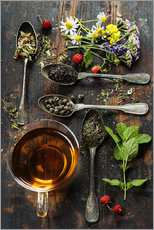 Gallery print  Tea with honey, wild berries and flowers