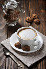 Gallery print  Cup of coffee with cookies