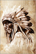 Gallery print  Native American elder