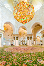 Muursticker  Sheikh Zayed mosque in Abu Dabi