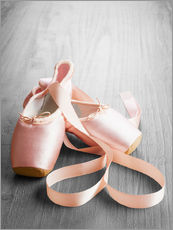 Muursticker  pink ballet shoes
