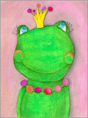 Gallery print  The frog queen and the colorful crown - Atelier BuntePunkt