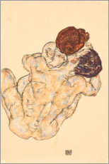 Muursticker  Man and Woman, Embrace - Egon Schiele