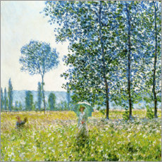 Aluminium print  Sunlight Effect under the Poplars - Claude Monet