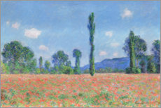 Hout print  Poppy field - Claude Monet