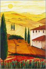 Muursticker  Tuscan idyll 3 (brighter) - Christine Huwer