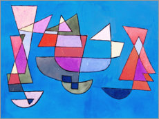 Muursticker  Sailing boats - Paul Klee