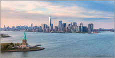 Gallery print  New York skyline with Statue of Liberty - Matteo Colombo