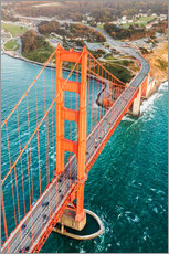 Gallery print  Flying over Golden gate bridge, San Francisco, California, USA - Matteo Colombo