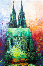 Muursticker  Cologne Cathedral Abstract - Renate Berghaus
