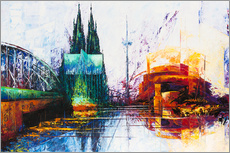 Gallery print  Cologne Cathedral Skyline - Renate Berghaus