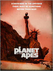 Gallery print  Planet of the Apes retro style movie inspired - 2ToastDesign