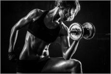 Gallery print  Sportswoman with dumbbells
