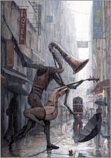 Muursticker  Life is a dance in the rain - Adrian Borda