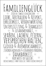 Muursticker  Ingredients for Family Happiness (German) - Zeit-Raum-Kunstdrucke