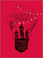 Gallery print  Alternative Stranger Things, rood - Golden Planet Prints