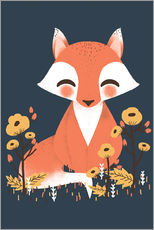 Muursticker  Animal friends - The fox - Kanzi Lue