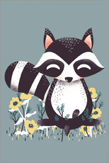Gallery print  Animal friends - The raccoon - Kanzi Lue