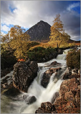 Muursticker  Scotland in Autumn - Buchaille Etive Mor - Martina Cross