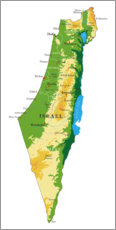 Gallery print  Map of Israel