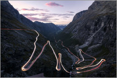 Muursticker  Trollstigen Pass Road Norway - Christian Möhrle