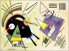 Gallery print  Black and purple - Wassily Kandinsky
