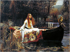 Muursticker  The Lady of Shalott - John William Waterhouse
