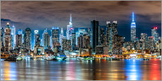 Gallery print  Midtown Skyline by Night, New York - Sascha Kilmer