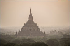 Muursticker  Sunrise at Sulamani Buddhist Temple - Matthew Williams-Ellis