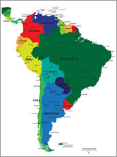 Gallery print  South America - Political Map