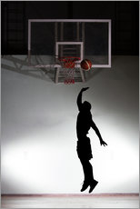 Gallery print  Silhouette of a basketball player
