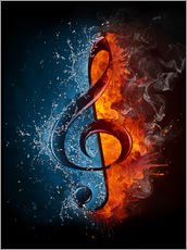 Gallery print  Fire and water music