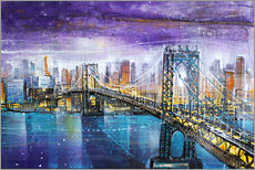 Muursticker  Manhattan Bridge - Johann Pickl
