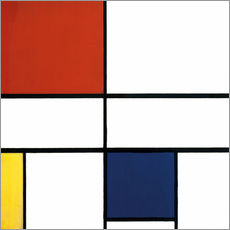 Gallery print  Composition c no iii with red yellow and blue - Piet Mondriaan