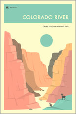 Gallery print  GRAND CANYON NATIONAL PARK POSTER - Jazzberry Blue