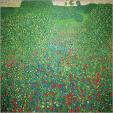 Acrylglas print  Field of poppies - Gustav Klimt