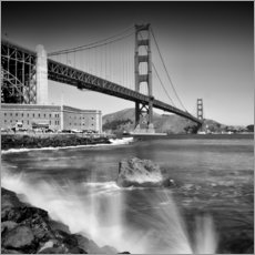 Gallery print  Golden Gate Bridge with breakers - Melanie Viola