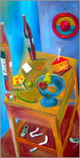 Muursticker  Cheese and fruits - Diego Manuel Rodriguez
