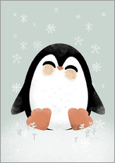 Muursticker  Animal Friends - The Penguin - Kanzi Lue