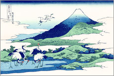 Muursticker  Umezawa in Sagami Province - Katsushika Hokusai