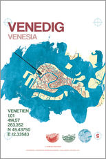 Muursticker  Venice city motif card - campus graphics