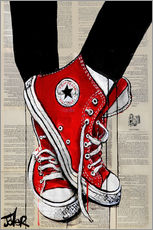 Gallery print  Not without my red shoes - Loui Jover