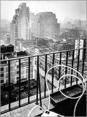Muursticker  New York: View from penthouse, 56 Seventh Avenue, Manhattan - Christian Müringer