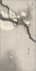 Muursticker  Plum Blossoms at Night - Ohara Koson