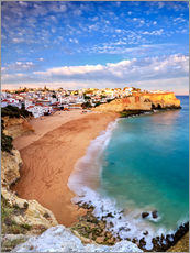 Gallery print  Panoramic of Carvoeiro at sunset, Algarve, Portugal - Roberto Sysa Moiola