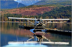 Muursticker Seaplane in Purpoise Bay, Canada