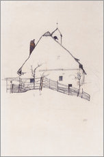 Gallery print  House with Bell Tower - Egon Schiele