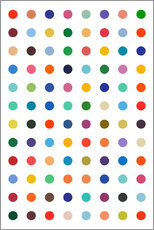 Muursticker  Polkadots in colour - THE USUAL DESIGNERS