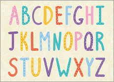 Muursticker  Colorful ABC letters - Typobox
